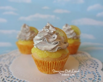Fake Cupcake Handmade Fake Lemon Meringue Toasted Cupcake Lemon Slice