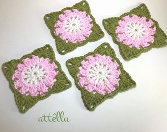 Easter Coasters / Spring Decoration / Pink flowers Coasters