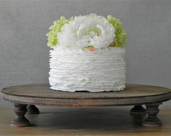 """20"""" Rustic Wedding Cake Stand Rustic Country Wooden Groom Cake Stand Cake Topper E. Isabella Designs Featured In Martha Stewart Weddings"""