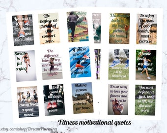 fitness planner stickers printable workout stickers weight loss stickers full box stickers gym stickers fitness sticker motivational quotes