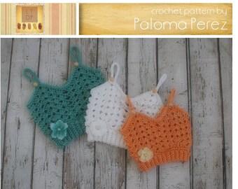 INSTANT DOWNLOAD - Baby Granny Tank Top - Crochet Baby Shirt - Baby Tan Top Crochet Pattern