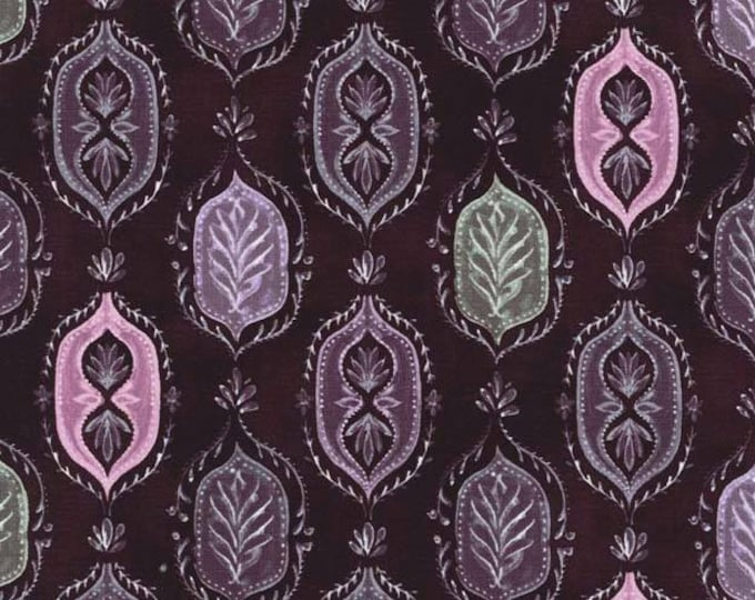 Serafina by Michael Miller - Angelina Aubergine - Cotton Woven Fabric