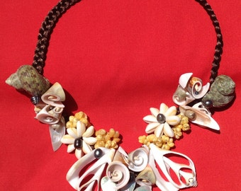 Authentic Shells Necklace..Perfect For Tahitian And Cook Islands Dance Costume, Gift, Wedding, Luau, Or To Wear It With Your Island Style!!