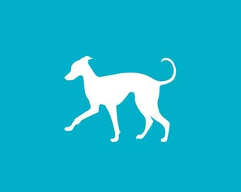 Italian Greyhound Car Decal | Dog Breed Sticker | Iggy Silhouette | Laptops | Tumblers | Boats | Trucks | I Love My Italian Greyhound
