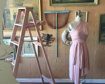 Southern Blush- Octopus Infinity Wrap Dress~ Circle Skirt Short~  Bridesmaids, Bohemian, Bridal Shower