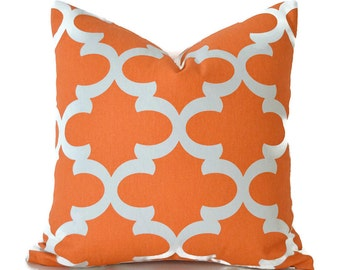 Orange Pillow Covers ANY SIZE Decorative Pillow Cover Orange Pillow Premier Prints Fynn Orange