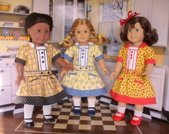 Doll Clothes Patterns, Mary's Dress No. 1001