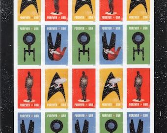 Star Trek: The Final Frontier (20)- Mint - Unused - Full Sheet