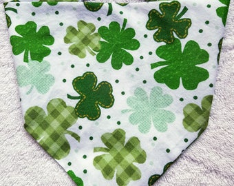Buckle Dog Bandana Dog Bandanna St. Patrick's Day St. Patty's Day Green Shamrocks
