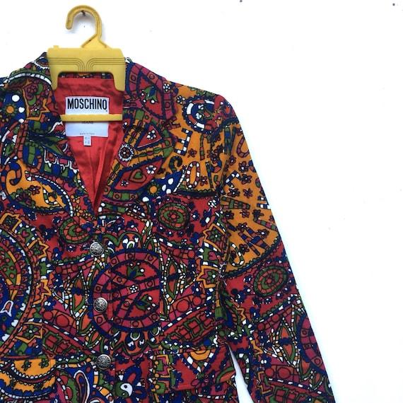 Rare In Italy Made Jeans Colourful Moschino MOSCHINO Jacket Blazer Design Blazer BrxBHzq