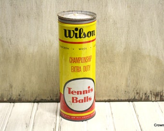 Vintage Wilson Tennis Ball Can - Metal - Aged - Made in USA -