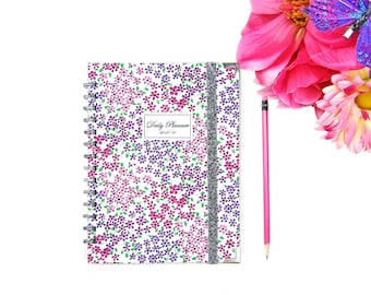 2018-2019 Personalized Planner - Daily Weekly Planner - Hardcover Planner - Custom Planner - 2018 Agenda - 2018 Diary - A5 planner