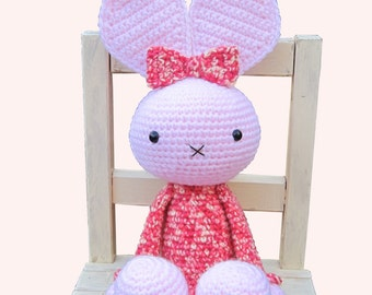 ENGLISH Instructions - Instant Download PDF Crochet Pattern - Huggy Bunny