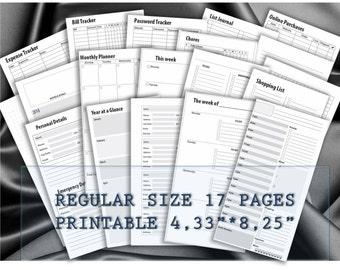 Midori travelers notebook inserts traveler's planner refill pages fauxdori printable calendar foxidori jendori Regular size _ RESIZE is FREE