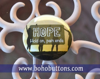 HOPE pinback button women empowerment badge woman magnet love patch friendship pins domestic abuse survivor keychain pain quote party gift