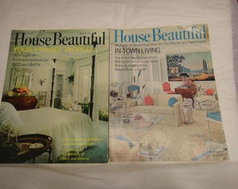 Vintage House Beautiful magazines  2 total
