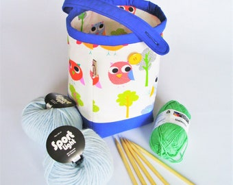 Project bag knitting bag knitting tote craft project storage bag project pouch carry all bag everyday bag kids tote bag gift for knitter