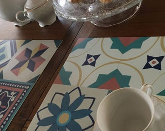 Placemats Green Tiles