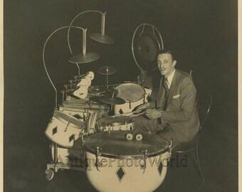 Drummer Henry Van Leer Amsterdam antique photo