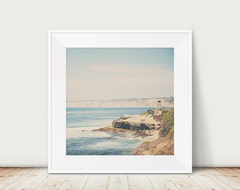 pacific ocean photograph san diego photograph la jolla photograph california photograph yellow lifeguard tower photograph california print