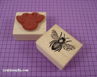 Honey Bee Stamp / Invoke Arts Collage Rubber Stamps
