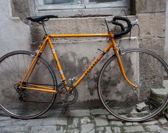 Semi Peugeot bike race orange vintage 70's