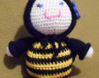 Crochet Sleeping Buddy Doll ~ Bumble Bee ~ Scrappin Magic Crochet