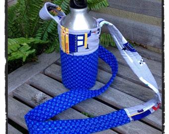 Water Bottle Holder - Blue and Trucks (#501)