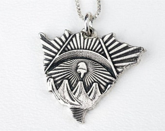Nicaragua Necklace CountryJewelry Sterling Silver Pendant