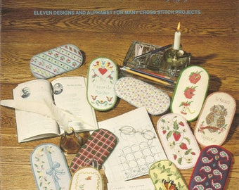 Classic Eyeglass Cases, Cross Stitch Patterns, Vintage 1982, Seebos Creations, Projects, Eleven Designs, Alphabet, Sewing Pattern, Supplies