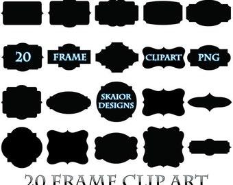 Frame Clipart Black Frame Clip Art Digital Frame Square Label Frame Border Digital Scrapbook Wedding Invitations Photo Frame Scrapbooking