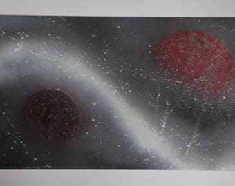 Red planets grey storm