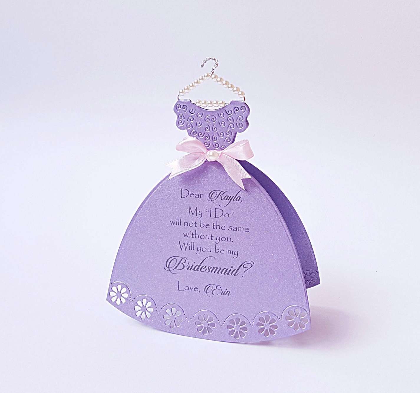 Will you be my bridesmaid dress card bridesmaid proposal zoom ombrellifo Image collections