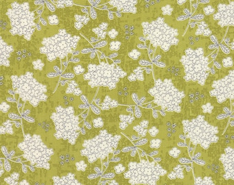 Moda - Garden Project by Tim and Beck Vintage Floral in Green Apple 39552-16