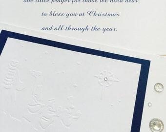 Christian Christmas Card, Wise Men, Embossed Christmas Card, Religious Christmas Card, Christmas Greeting Card, 6 Cards w/envelopes, Savior