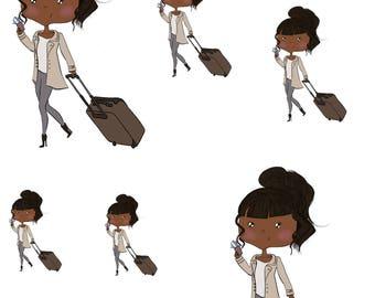 Travel Girls- Planner Stickers