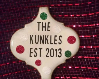 Personalized ceramic tile ornaments!