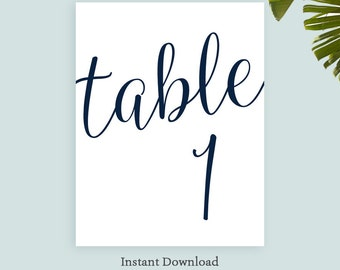 Items Similar To Printable Table Number Template Wreath Table - Table number template