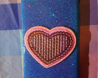 Limited Edition-Pink Sequin Heart Case iPhone 7