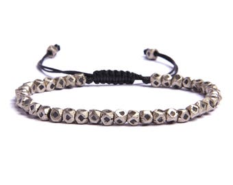Men's Silver Jewelry - Geometric silver bracelet for men - Men's Accessories - Men's Jewelry - Silver jewelry for Men - Father's Day