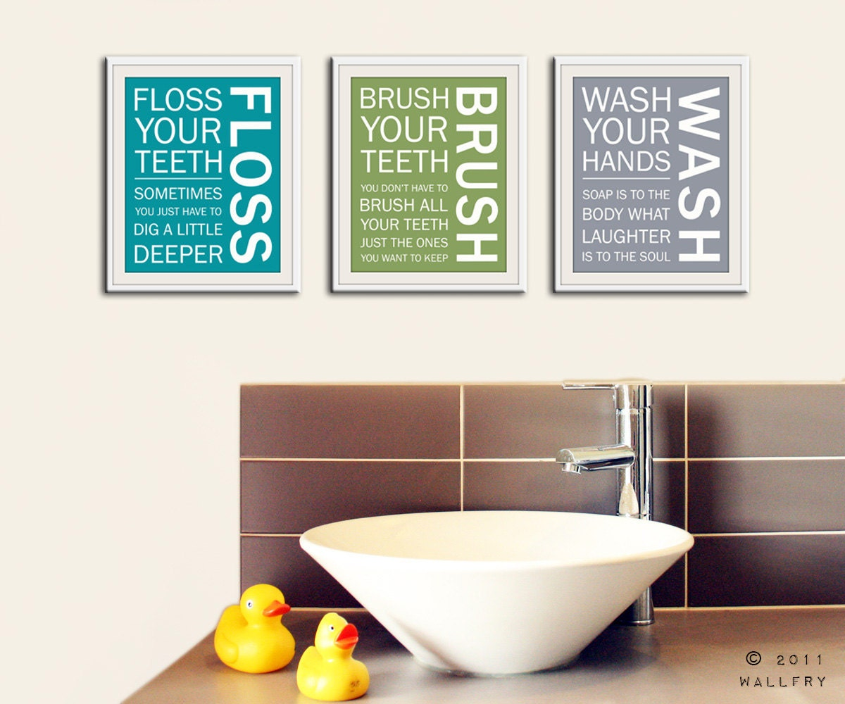 Interior Pictures For Bathroom Wall kids bathroom wall art rules prints wash