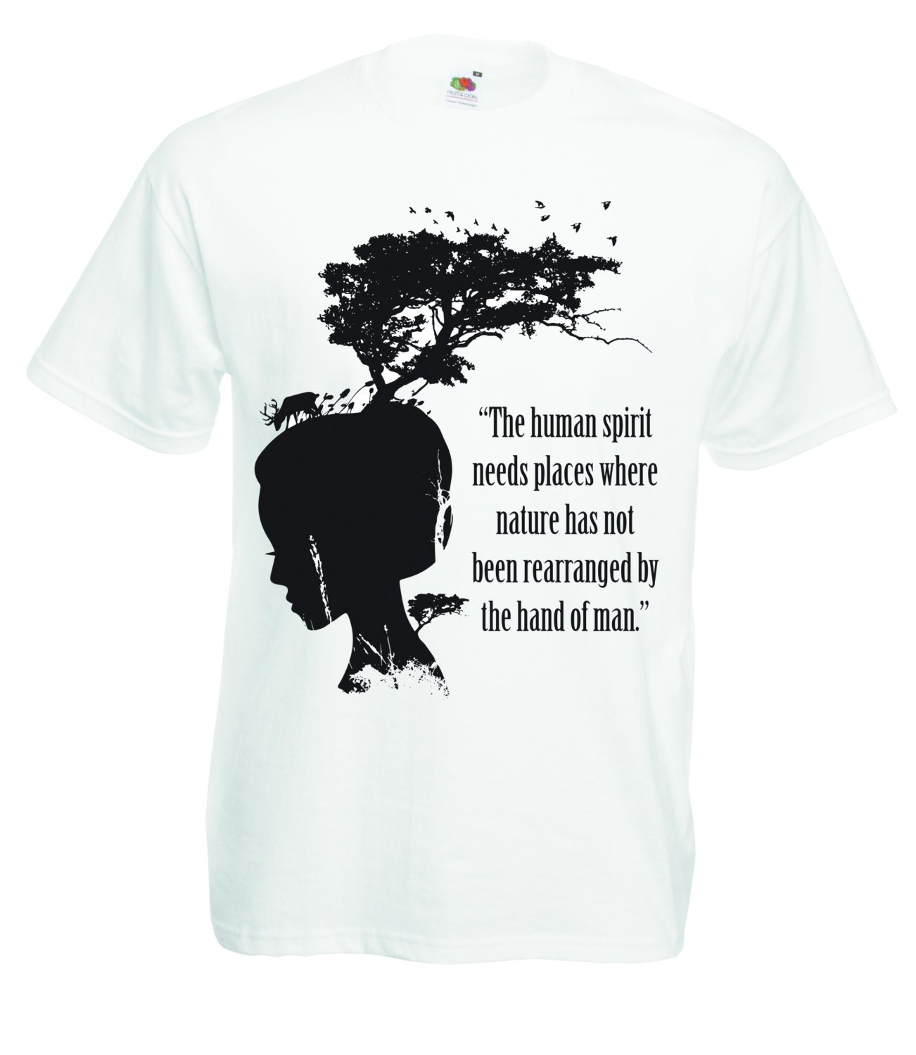 Vegan Quotes Nature Tshirt Nature Quote T Shirt Vegan Animal Rights Tee