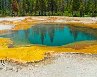 Yellowstone National Park,  Thermal Pool, Yellowstone Photography, Nature Photography, Landscape Photography, National Park
