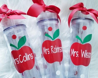 Personalized Teacher Appreciation Tumbler, Teacher Gift, Tumbler Teacher, Personalized Teacher Gift, Skinny Teacher Tumbler,Principal Gift