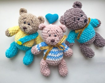 knitted bear bear handmade  knitted toy
