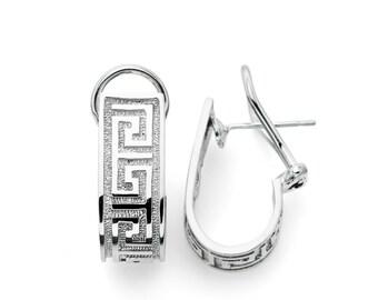 Sterling Silver Greek Key Earrings, Greek Key Earrings, Silver Greek Key, Silver Earrings, Greek Design, Greek Key, Greece