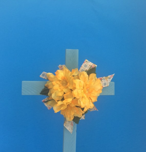 Cemetery flowers, Cemetery cross with flowers, grave decoration, memorial cross, The ORIGINAL Floral Memorial