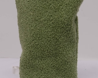 Hand Washcloth Mitt, Make-up Remover, Bath Aid, European Wash Mitt, Bulk Discount on Four or More:  Olive Green