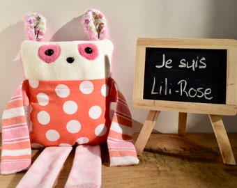 Lily-Rose - plush pouch made from recycled fabrics