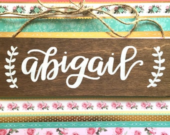 baby name sign / nursery sign / new baby sign / baby's room sign / pregnancy announcement sign.